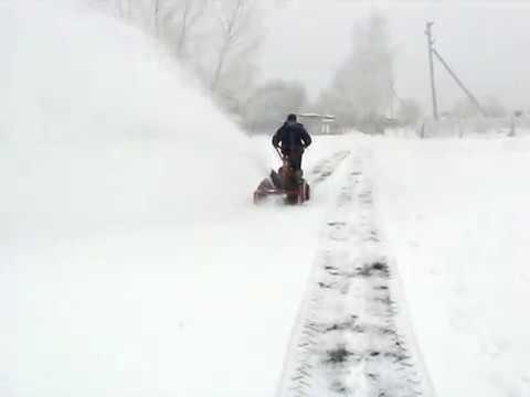 Снегоуборщик СМБ-2 и лопата-отвал для мотоблока Агро.