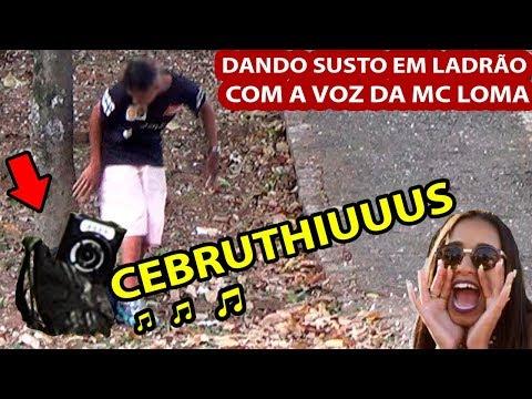 DANDO SUSTO EM LADRÃO DE MOCHILA COM A VOZ DA MC LOMA Vídeos de zueiras e brincadeiras: zuera, video clips, brincadeiras, pegadinhas, lançamentos, vídeos, sustos