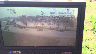 YS-X4 - first flight in the world :) with Minim OSD