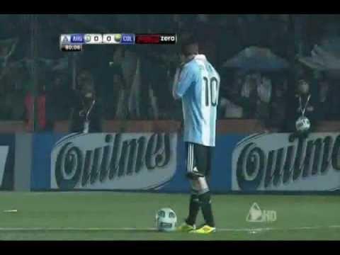 Ronaldo laughing at Messi freekick