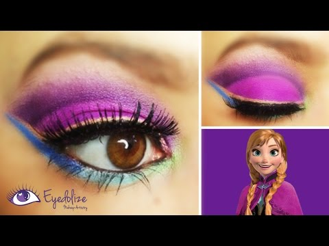 Disney's Frozen Anna Inspired Eyeshadow Tutorial with EyedolizeMakeup & CharlisCraftyKitchen!