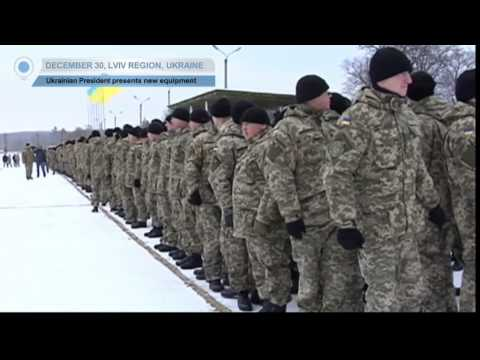 Poroshenko Presents Army New Equipment: President says Ukraine could meet NATO criteria in 5 years
