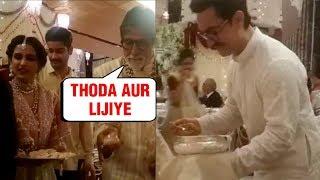 Shocking Aamir Khan Amitabh Bachchan Serving Food At Isha Ambani's Wedding 2018
