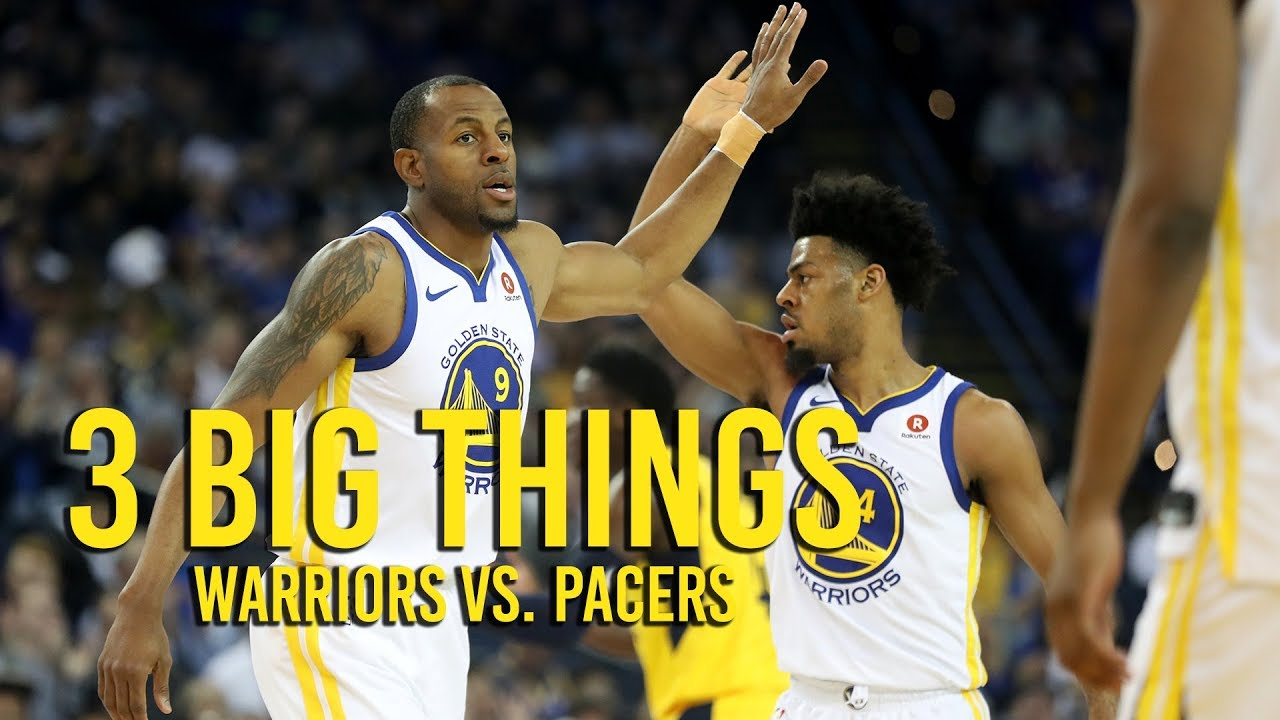 3 Big Things: Warriors lose to Pacers 92 81