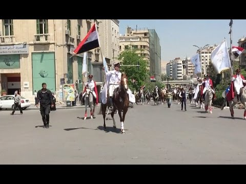 Horse-riding Parade, Protest Rally Held On Syrian Independence Day