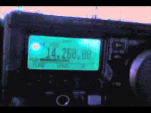 Talking around the world via HAM radio