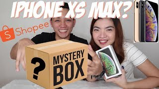 IPHONE XS MAX ON MYSTERY BOX?!! | SHOPEE MYSTERY BOX PRANK | IPHONE XS MAX UNBOXING