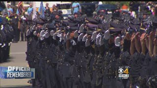 Large Police Turnout At Slain Weymouth Sgt. Michael Chesna's Funeral