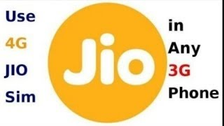 Use jio 4g sim in 3g phone 100% working with proof