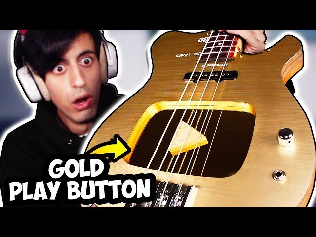 I Built a BASS Out of my YouTube Gold Play Button thumbnail