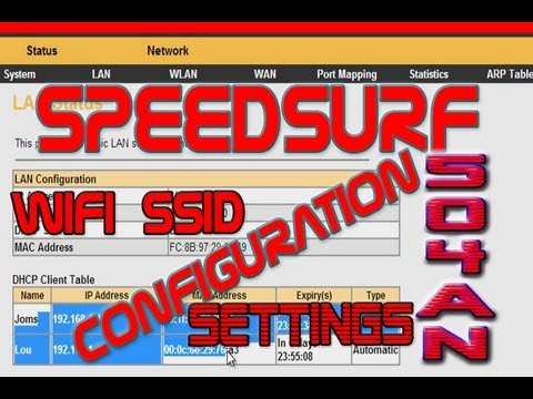 PLDT SpeedSurf 504AN Wireless Modem Router Configurations