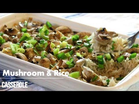 Simple Mushroom & Rice Casserole