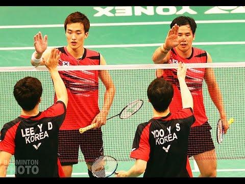Badminton Civil War: Lee Yong Dae Yoo Yeon Seong VS Ko Sung Hyun Shin Baek Cheol | Rally Highlight