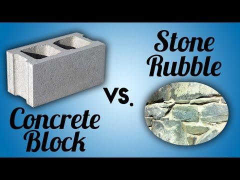Concrete block vs stone rubble foundation mark woehrle for Cinder block vs concrete foundation