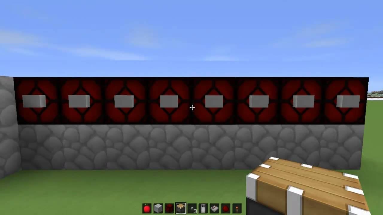 КАК сделать дверь с кодовым замком в minecraft - YouTube