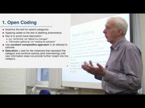 Grounded Theory - Open Coding Part 1