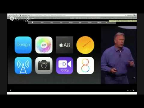Трансляция презентации iPhone 6 на русском от keddr.com