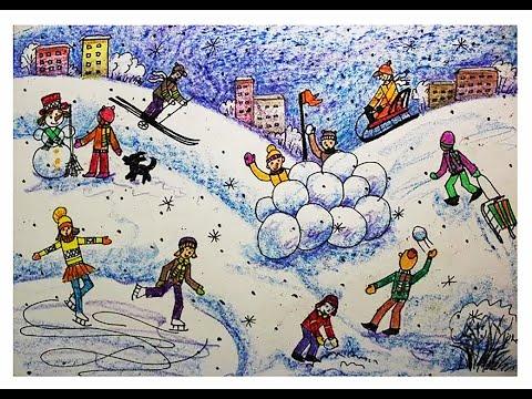 Рисунок человека в движении для детей