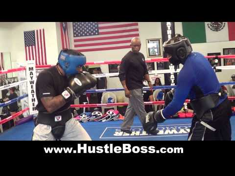 Will Clemons (3-0, 2 KO's) sparring with Lanell Bellows (3-0-1, 3 KO's) [Mayweather Boxing Club] Image 1