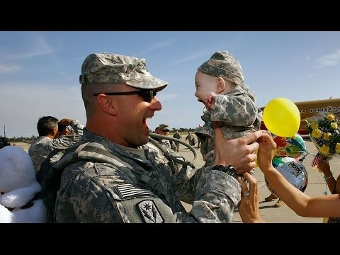 Take The Challenge And Try Not To Cry Happy Tears Part 1(US Troops Coming Home) 2014