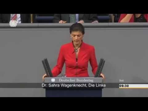 Wagenknecht criticizes Merkel for serving US interests to detriment of EU population/economy  26.11