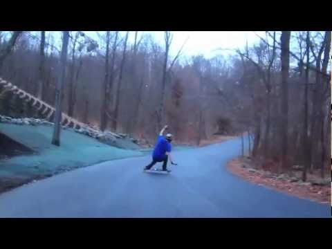 Norm Goes Big In The Rain: Longboarding