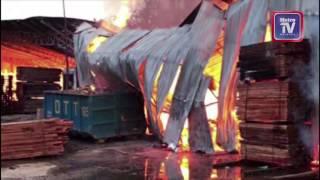 Kilang kayu Pelet terbakar