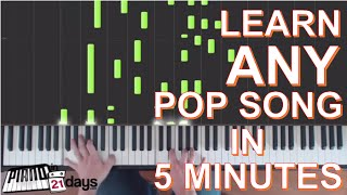 How To Play Piano Learn Pop Songs On The Piano In 5 Minutes