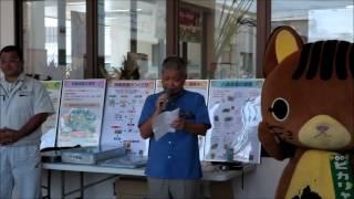 2017年黒糖の日で黒糖が石垣島のゆらてぃく市場の玄関でイベント