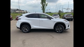 2020 Lexus NX 200 F SPORT in Eminent White Pearl Review