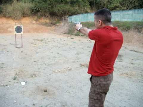 Tiro de pistola 380 - Clube de tiro Video