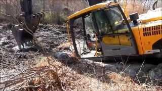 I Got The Excavator Stuck