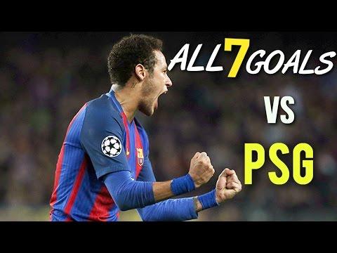 Neymar Jr - All 5 Goals Vs PSG |2014-2015| UEFA | HD