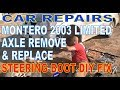 OGH MITSUBISHI MONTERO LIMITED 2003 FRONT AXLE REPLACEMENT FRONT LEFT INNER RACK BOOT FIX mp3