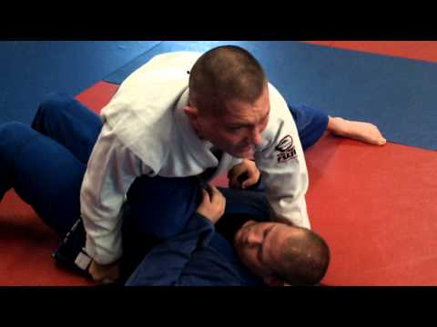 FTWB BJJ technique knee on belly to triangle choke Image 1