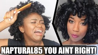 I TRIED FOLLOWING A NAPTURAL85 HAIR TUTORIAL