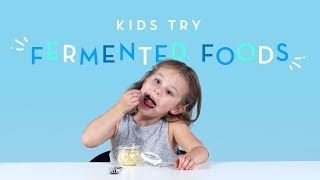 Kids Try Fermented Foods | Kids Try | Cut