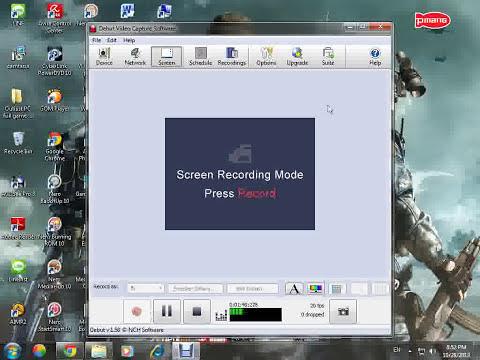 สอนอัดวีดีโอ ด้วยโปรแกรม Debut video capture