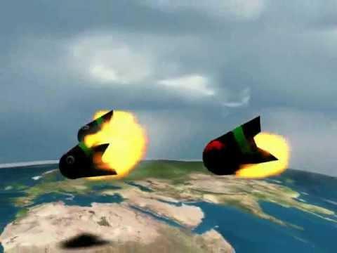 animasi roket 3ds Max + FumeFX
