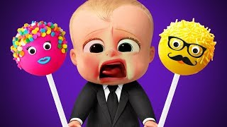 Boss Baby Learn Colors Colorful Pop Cake Finger Family Songs Collection