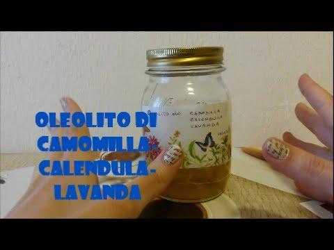 OLEOLITO di Calendula-Camomilla-Lavanda fai da te