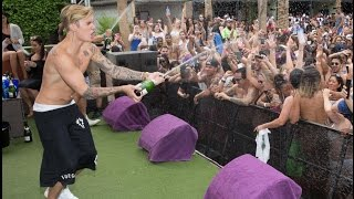 Justin Bieber champagne Las Vegas pool party! 3 May 2105 ♛