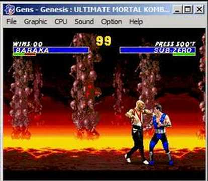Ultimate Mortal Kombat Trilogy: Baraka Fatality Video