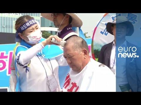 تراشیدن موی سر، شیوه برای اعتراض در کره جنوبی
