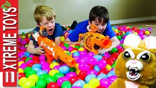 Easter Egg Heist Remastered! Crazy Easter Basket Nerf Battle!
