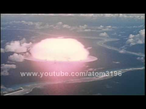 HD 1946 atomic bomb test operation crossroads Able shot in color