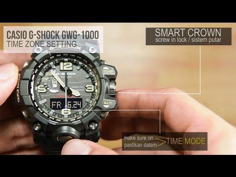 Casio G-shock GWG-1000 MUDMASTER -  TIME ZONE SETTING