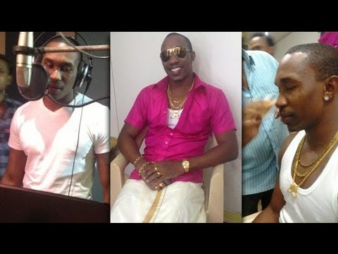 Dwayne Bravo shoots for Tamil movie song on birthday