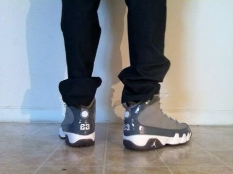 "Jordan 9 IX ""Cool Grey"" on feet - 19.3KB"