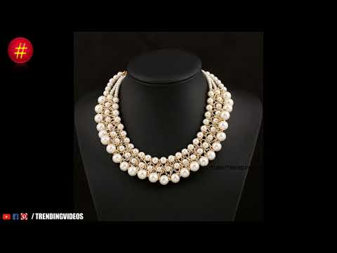 New Fashion Designer Small Gold Pearl Necklace Designs